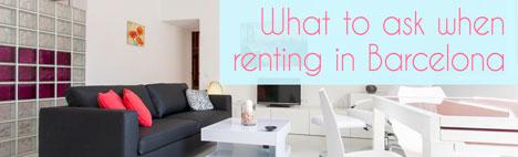 10 frågor att ställa när man hyr lägenhet i Barcelona