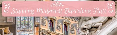 Bleibe in einem modernistischen Gebäude in Barcelona!