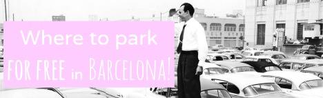 In Barcelona kostenlos parken