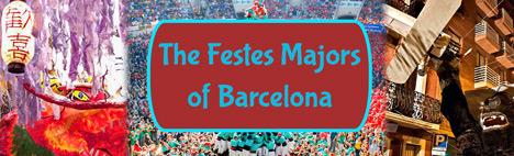Alle Stadtviertel Feste von Barcelona!