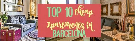 Topp 10 billiga lägenheter i Barcelona