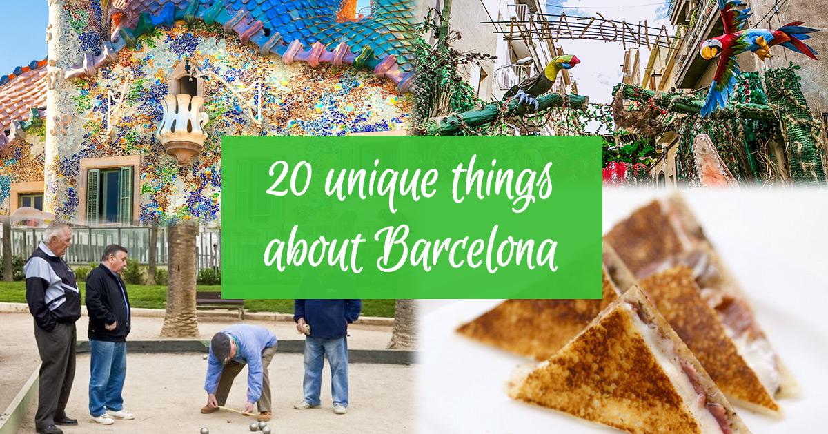 20 einzigartige Sachen in Barcelona