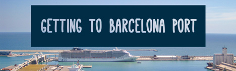 How do you get to the main port of Barcelona?