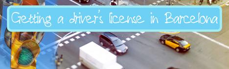 Die Fahrerlaubnis in Barcelona, Spanien