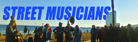 Músicos callejeros de Barcelona