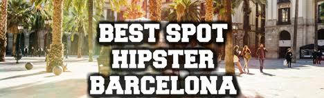 Where do hipsters hang out in Barcelona?