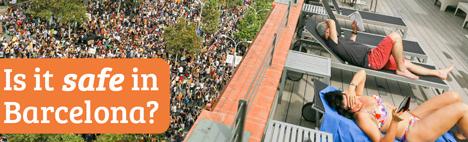 ¿El conflicto catalán hace insegura Barcelona?