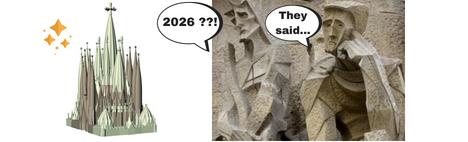 Wanneer is de Sagrada Familia af?
