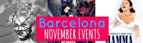 Los mejores eventos en Barcelona en Noviembre