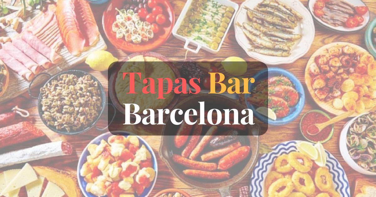 Bars à Tapas Barcelone