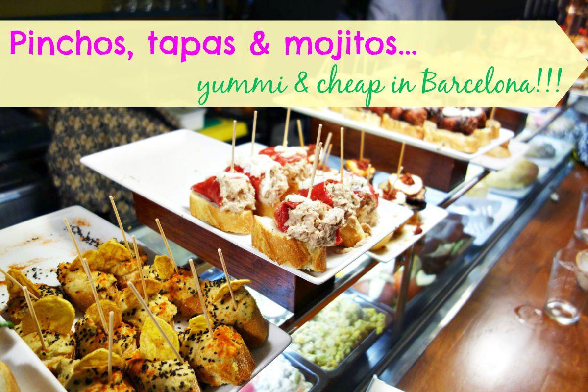 Tapas,pinchos et mojitos bons et pas chers à Barcelone