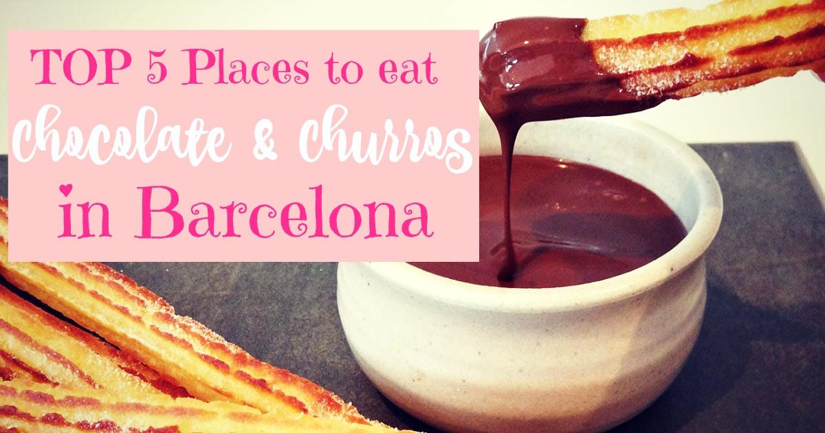 Les meilleurs chocolats chauds et churros de Barcelone