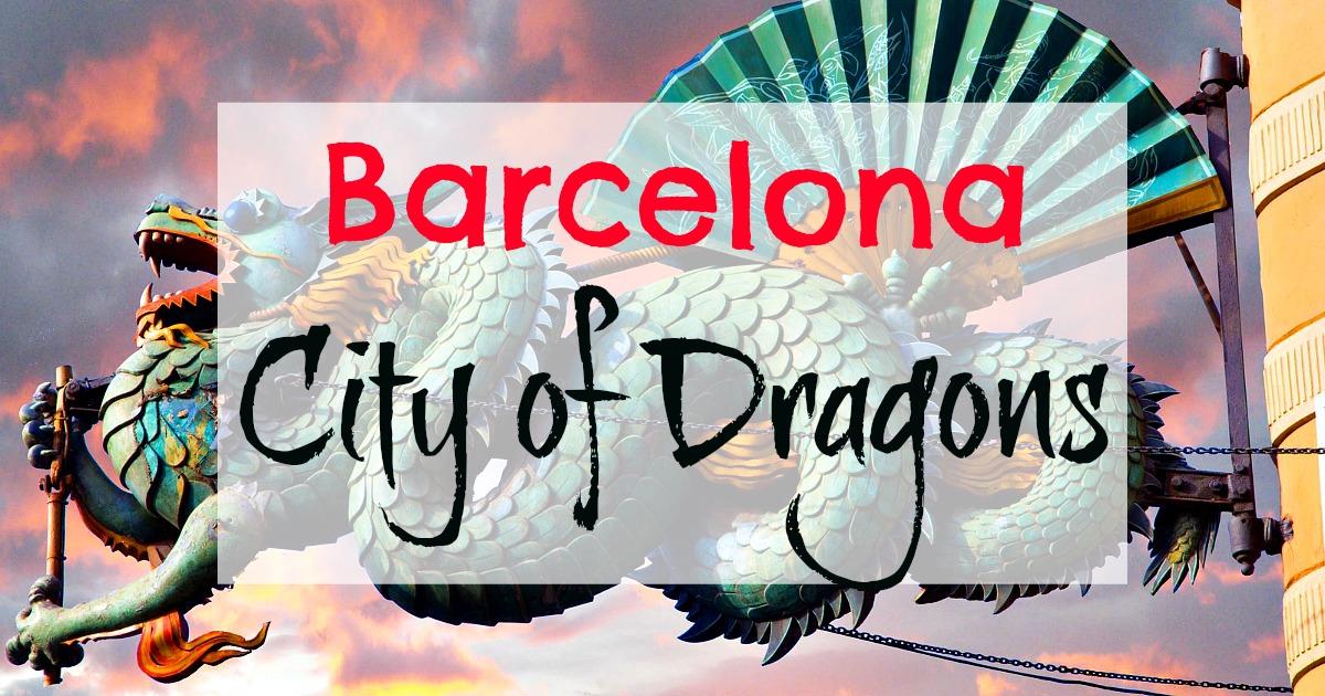 I dragoni che abitano la città di Barcellona.