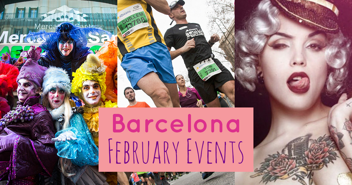 Outline of the best February events in Barcelona