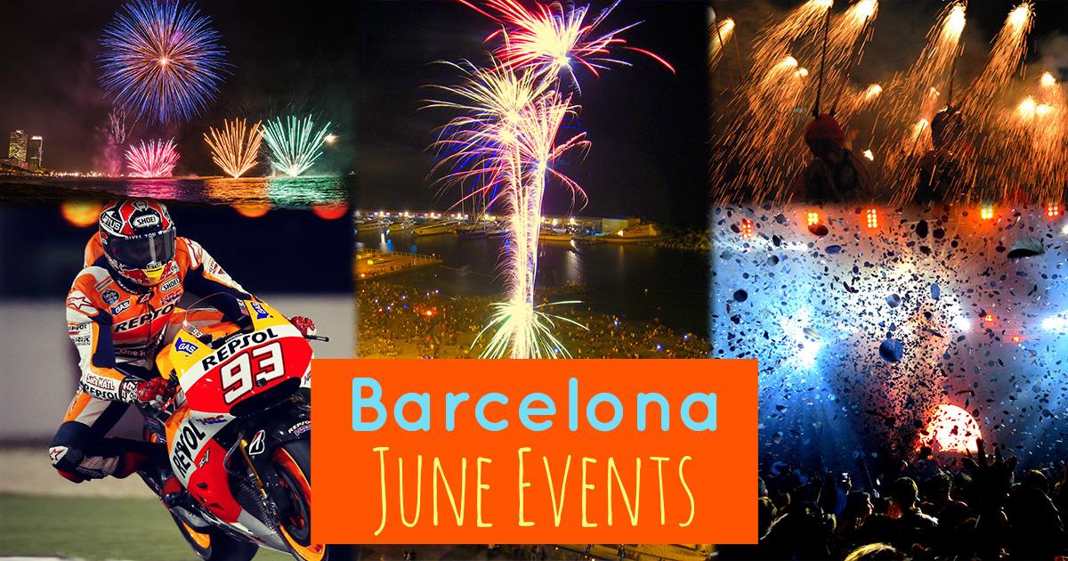 Les événements du mois de Juin à Barcelone !