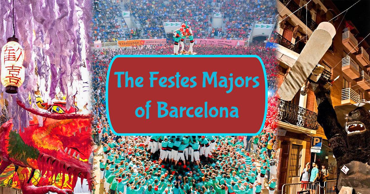 Stora stadsdelsfester i Barcelona!