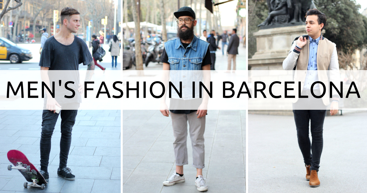 Moda męska w Barcelonie - bogactwo stylu