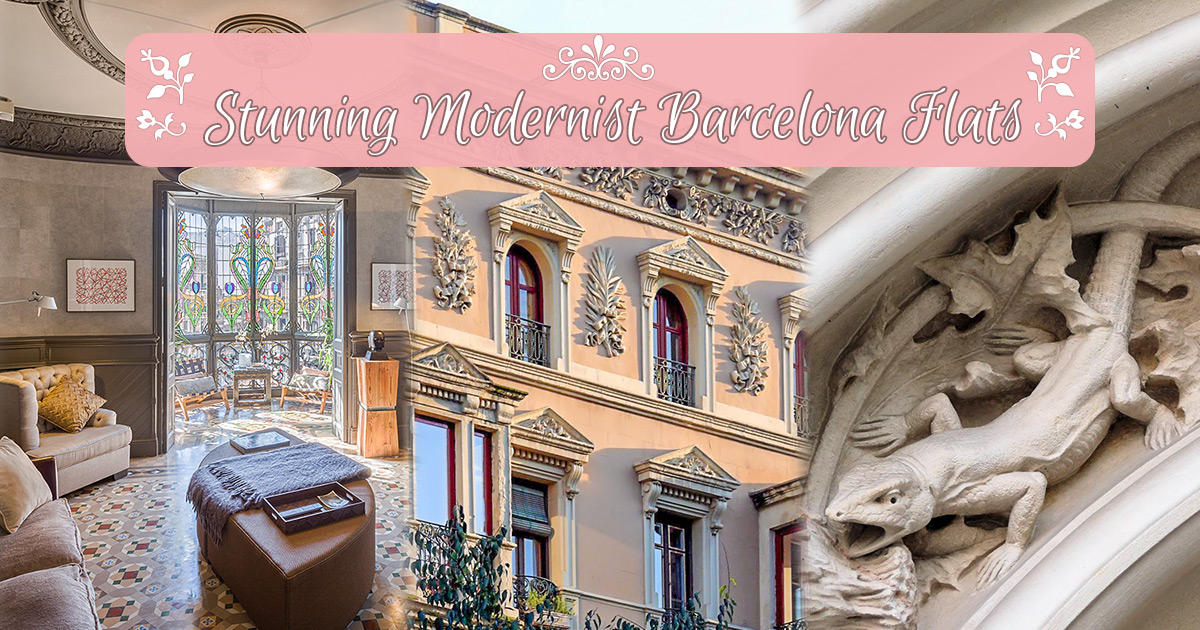 Alloggia in un appartamento modernista a Barcellona!