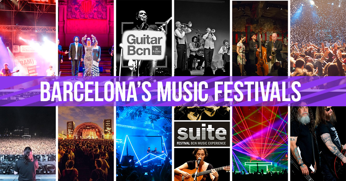 The full list of music festivals in Barcelona