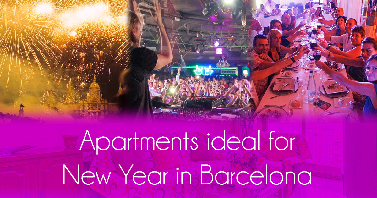 Apartments ideal for New Year in Barcelona