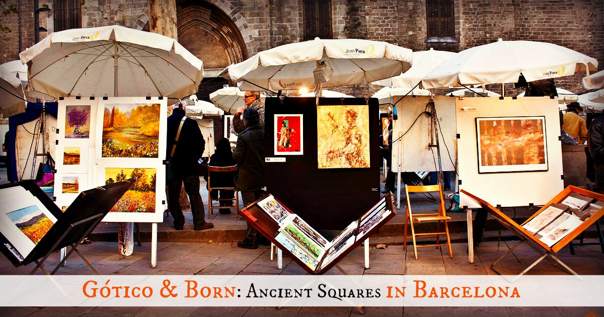 Secret squares of Barcelona