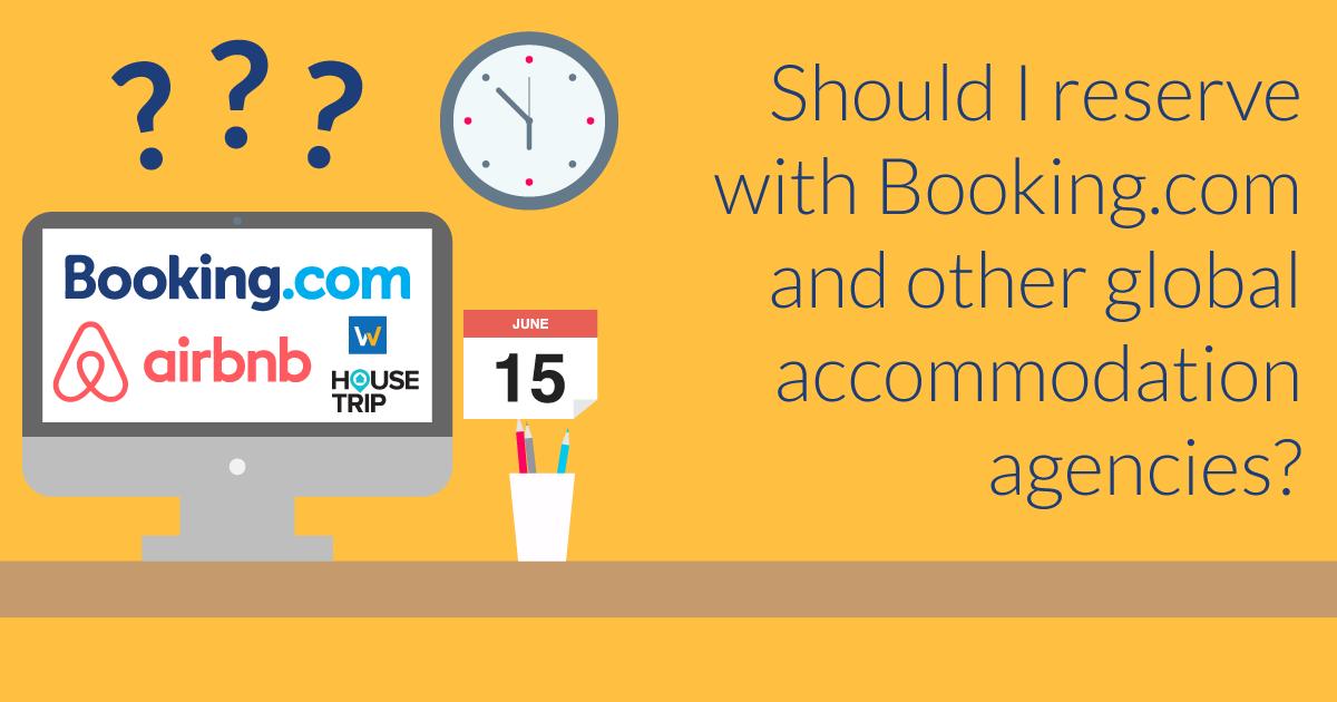 ¿Es seguro reservar con booking u otras agencias?