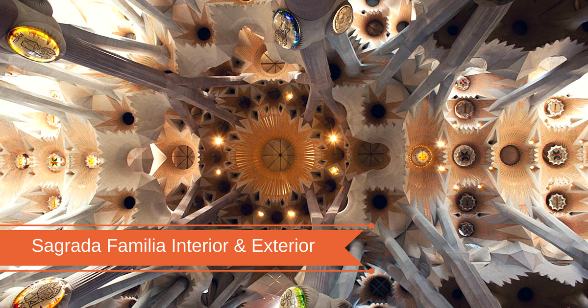 El interior y el exterior de la Sagrada Familia