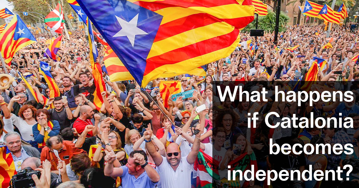 What happens if Catalonia gains its independence?