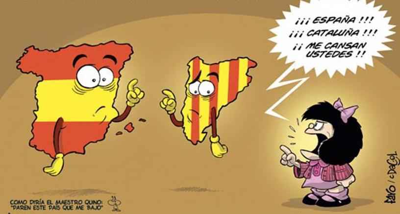 Mafalta riñendo a España y Cataluña