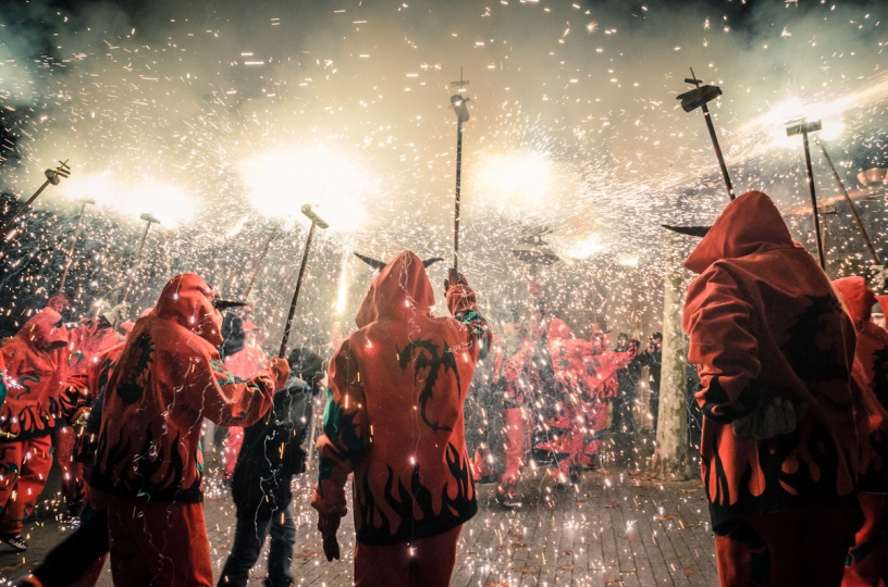 Photo diables de Correfocs