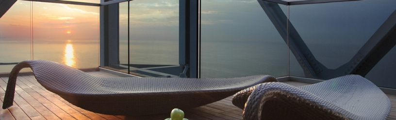 Terrace of The Six Senses Spa in Barcelona