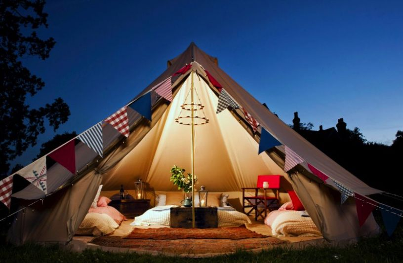 A luxury tent