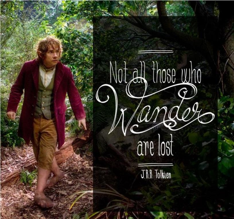 Travel quote fron J.R.R Tolkien