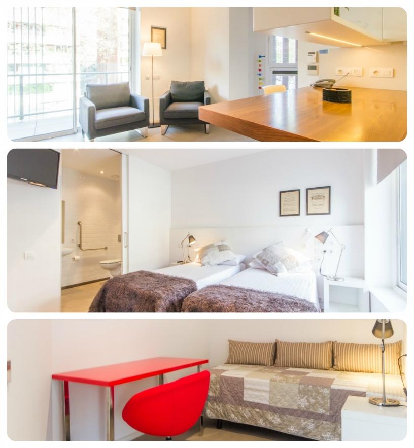 Apartamento turístico completamente adaptado en Barcelona para 3 personas