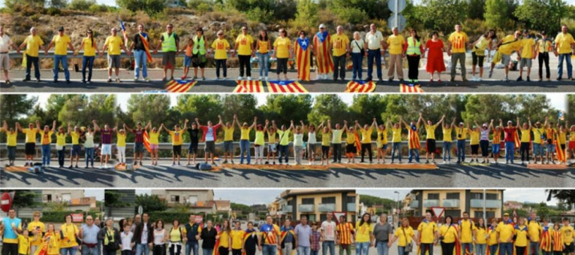 Catalan Human Chain Protest