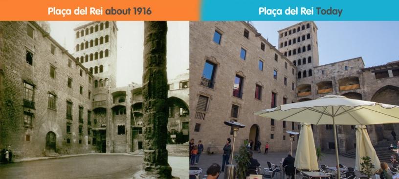 Placa del Rei vorher und nachher Bilder