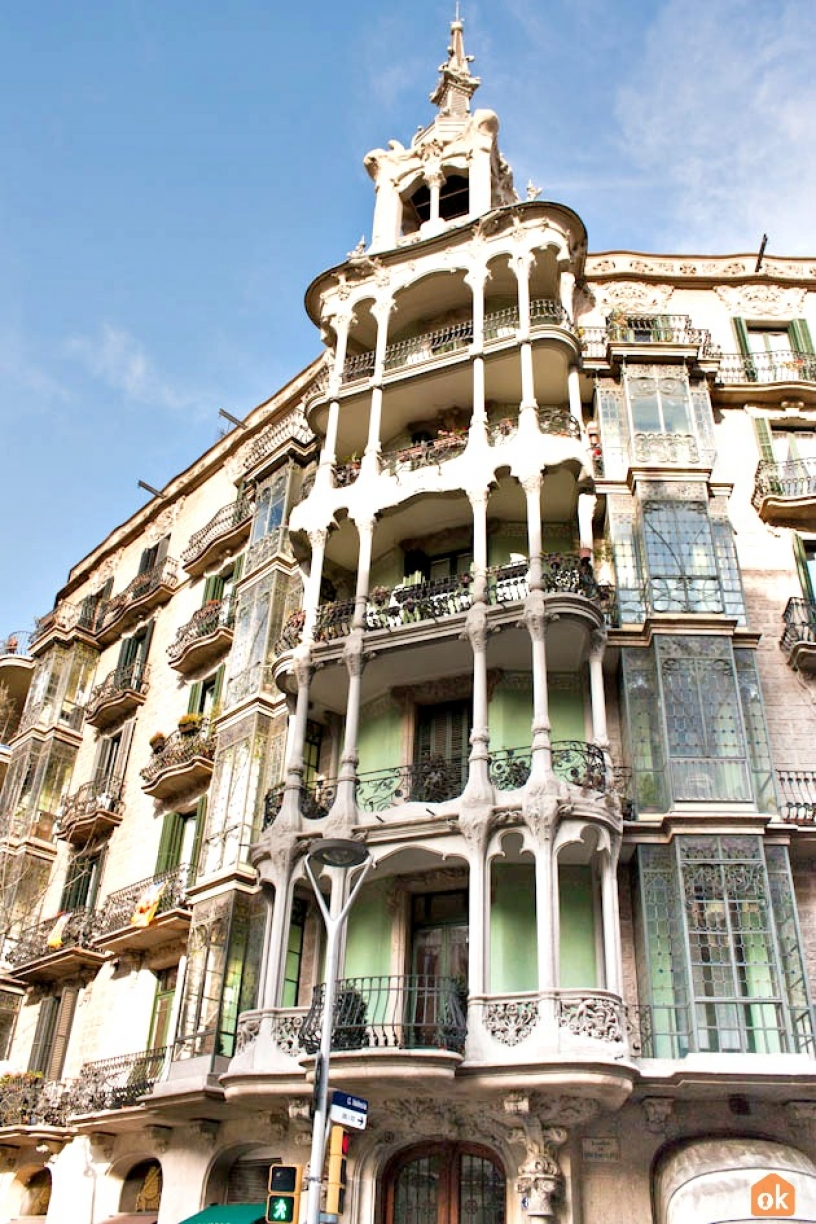 Modernist building in Barcelona