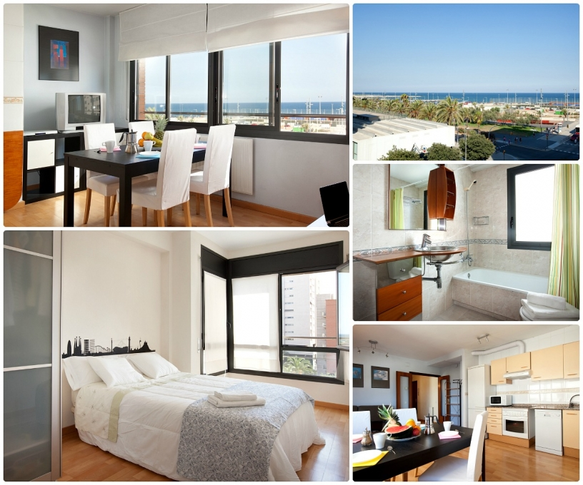 Apartamento de playa en Barcelona con parking