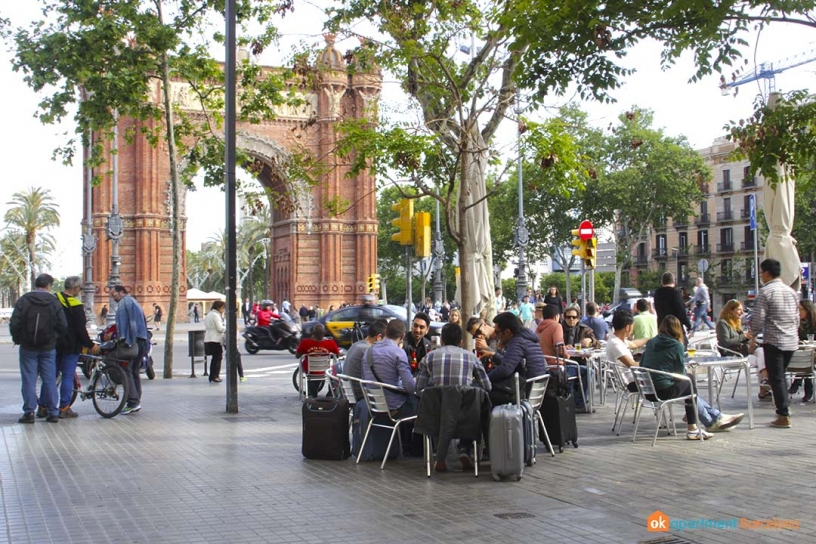 Below Arc de Triomf, Barcelona