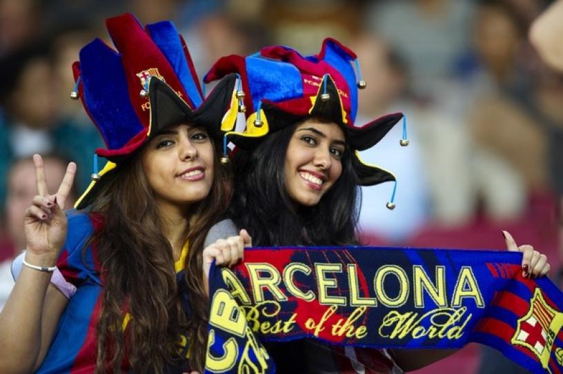 Dos seguidoras del Barcelona