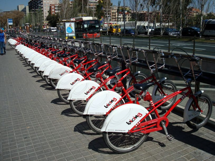 Bicing station in Barcelona