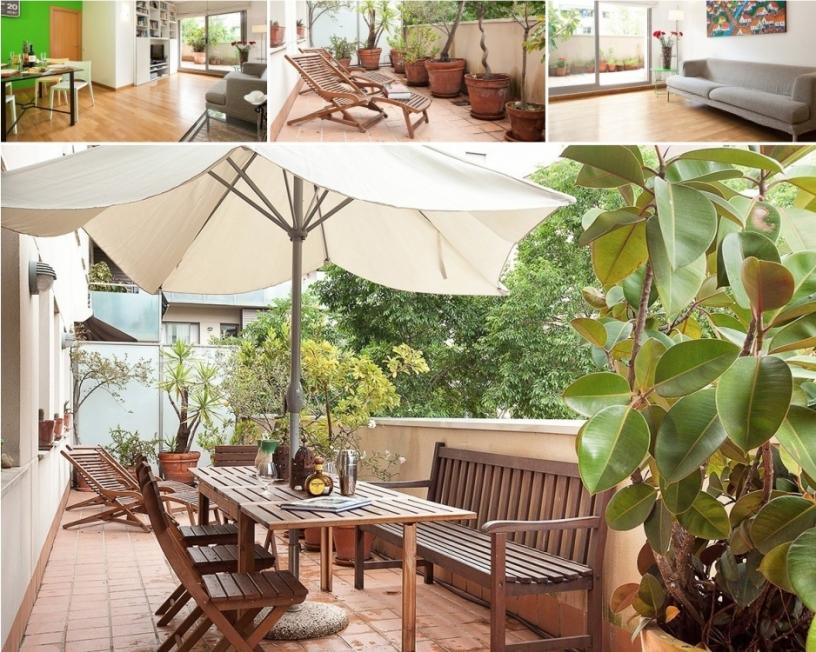 Apartamento de verano en Barcelona con terraza cerca de la playa