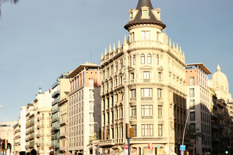 Building near Plaza Catalunya