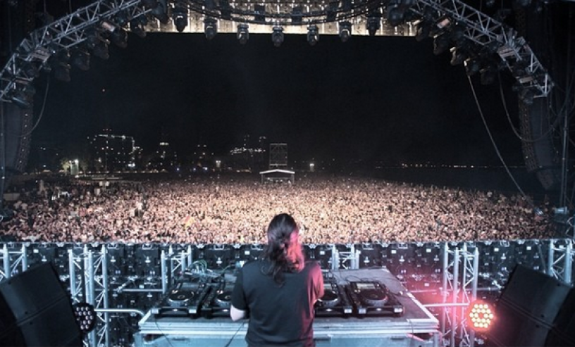 Barcelona Beach Festival - view from the stage