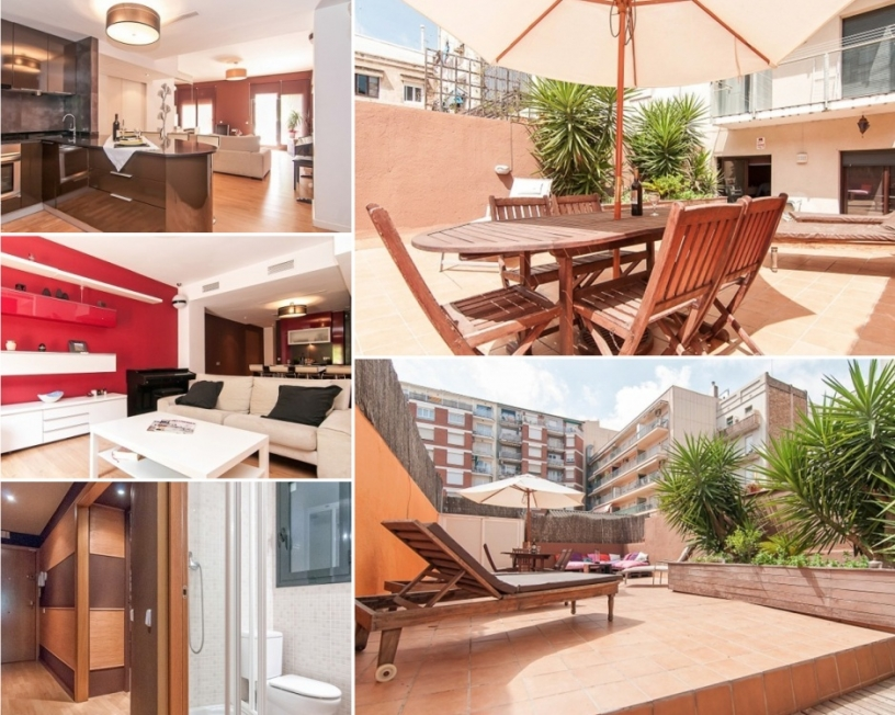 Piso moderno con gran terraza en Barcelona