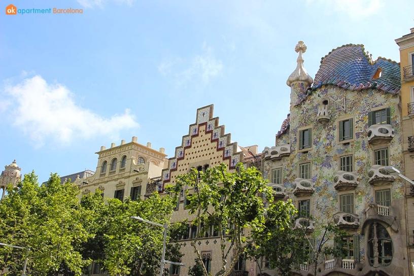Houses in Passeig de Gracia, Barcelona