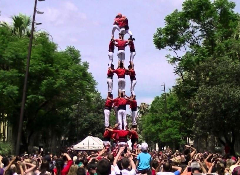 Castellers Rambla del Raval
