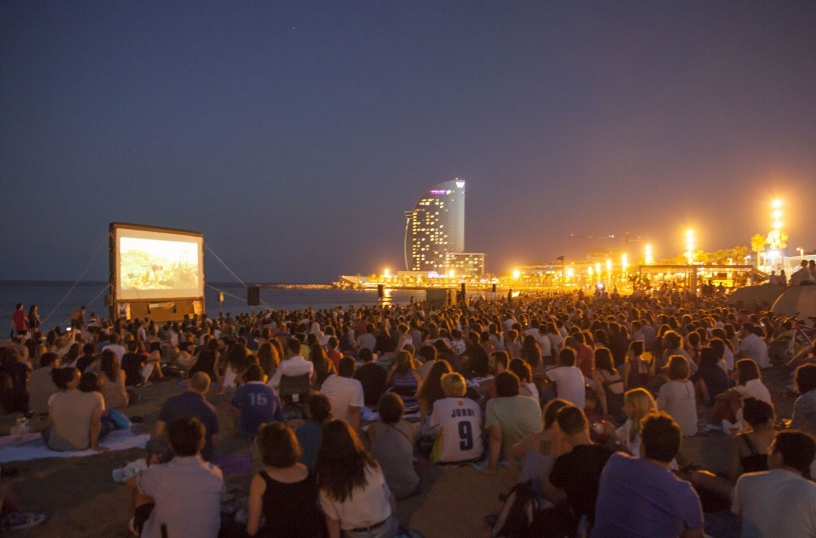Outdoors cinema in San Sebastián