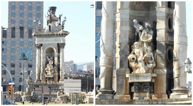 Fuente monumental en plaza de España