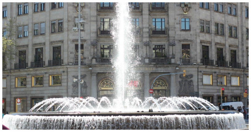 Fountain on Passeig de Gràcia